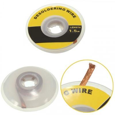 Desoldering braid - width 2, 2.5, 3 mm