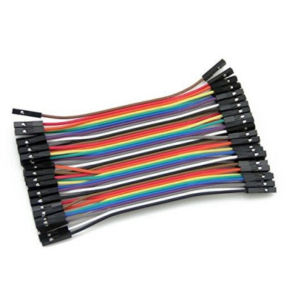 40 x Dupont cables female-female 10cm