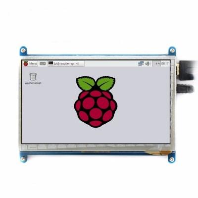 """Display LCD de 7"""" 800x480 cu touch capacitiv pentru Raspberry Pi 3 - HDMI"""