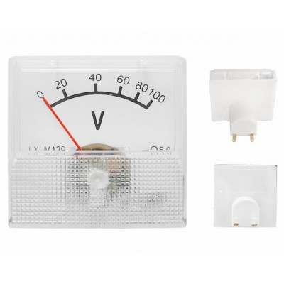 Analogic voltmeter 0-100V