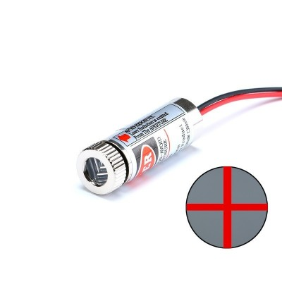 650nm 5mW red laser cross module glass lens