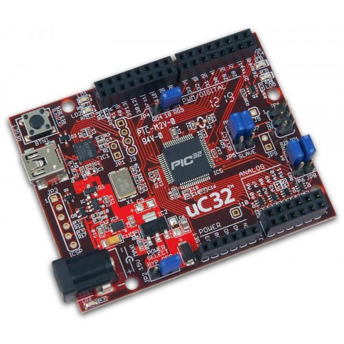 Placa de dezvoltare uC32 PIC32MX340F512H