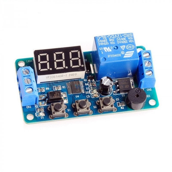12V Control Timer Relay Module with Display