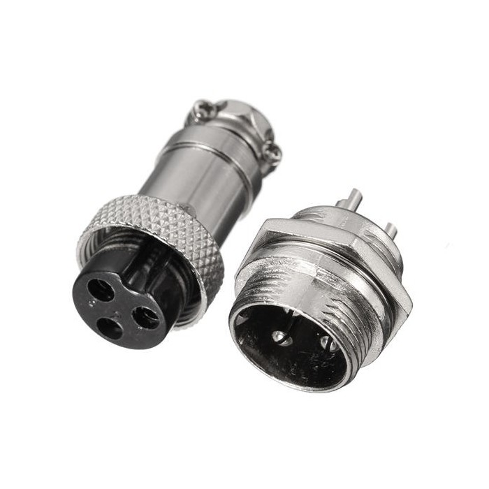 Set conectori 16mm GX16-3