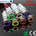 Led button 16mm momentary 3-6V