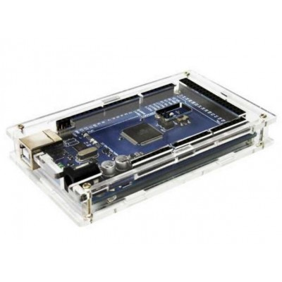 Arduino MEGA 2560 - original (ATmega16U2) - acrylic enclosure