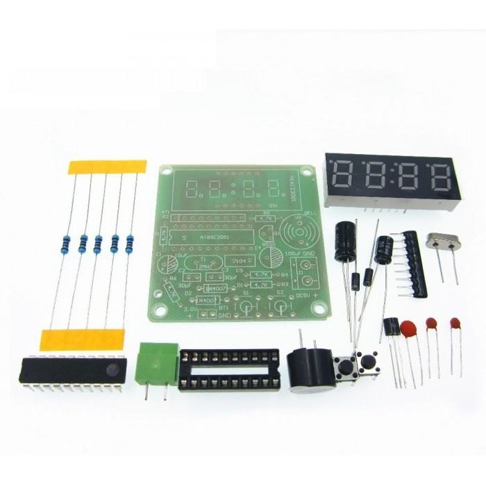 4 bit digital electronic clock chip DIY