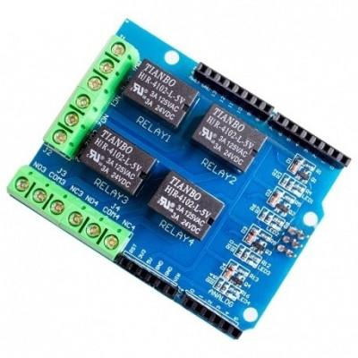Shield cu 4 Relee pentru Arduino