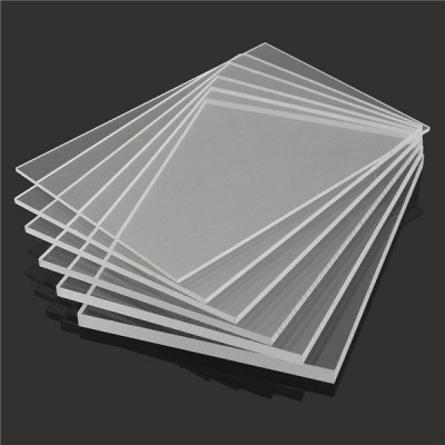 Extruded transparent acrylic plate 10x10cm