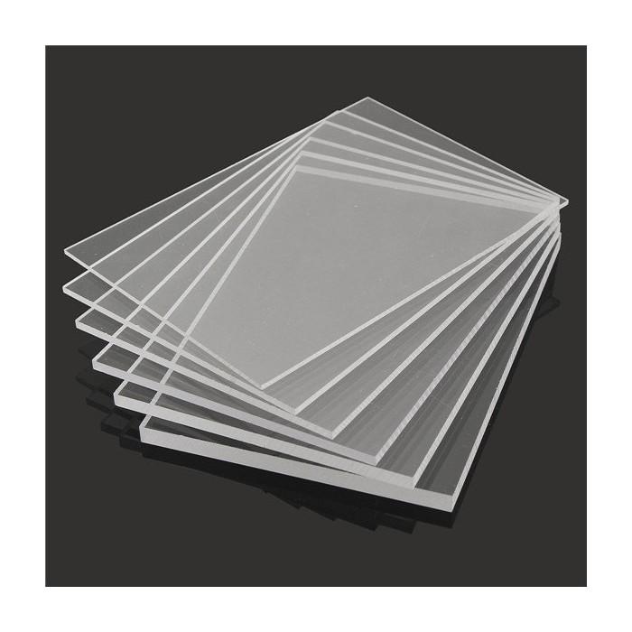 Placa acril extrudat transparent 10x10cm
