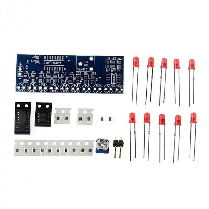 Kit Învățare cu NE555 + CD4017 și LED-uri