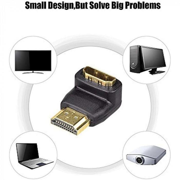 Adaptor HDMI-HDMI la 90 grade