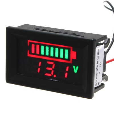 Battery Indicator Voltmeter