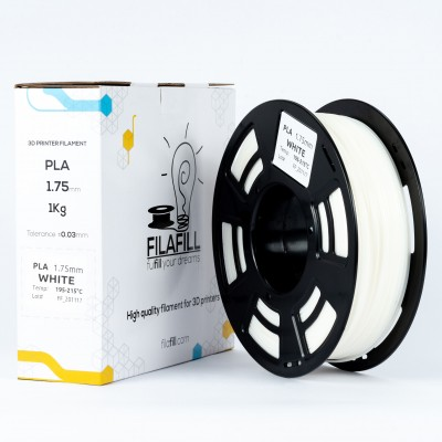 PLA Filament - PREMIUM - White - 1Kg - 1.75mm