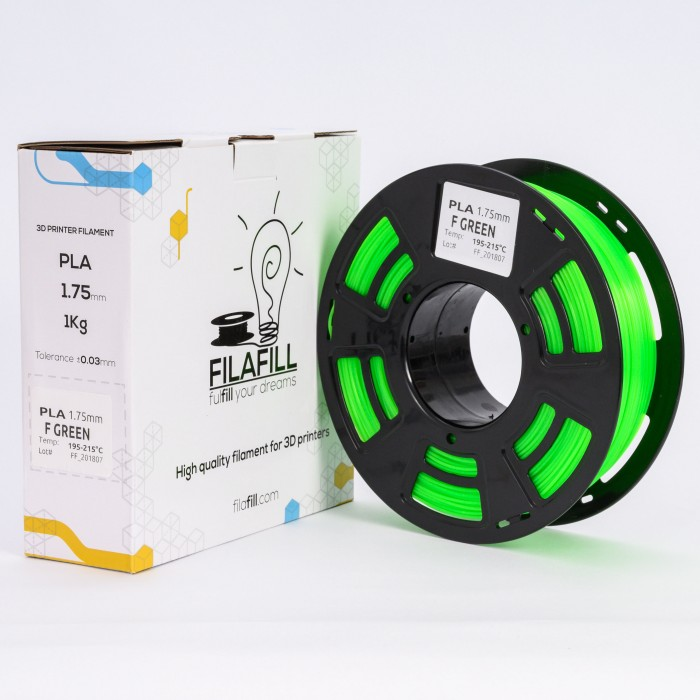 Filament PLA - PREMIUM - F Verde - 1Kg - 1.75mm