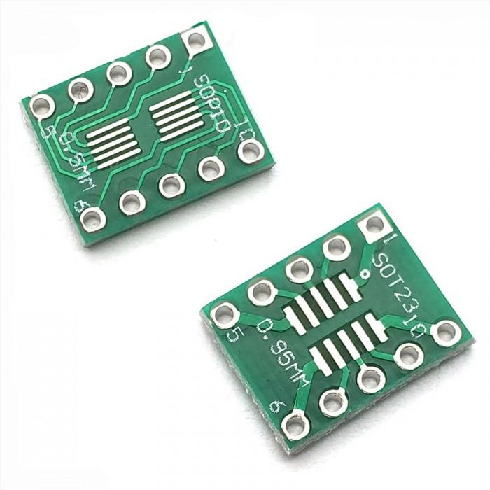 Adapter board SOP10 - DIP