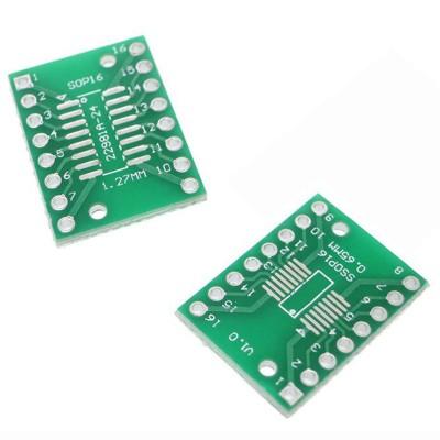 Placă adaptare SOP16 SSOP16 TSSOP16 la DIP16
