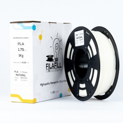 Filament PLA - PREMIUM - Natural Alb- 1Kg - 1.75mm