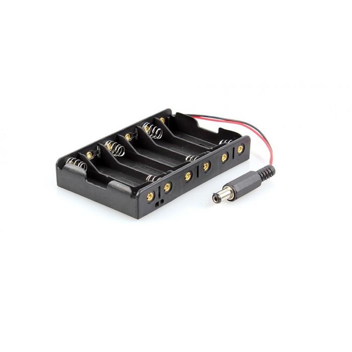 Suport baterii 6xAA + mufa
