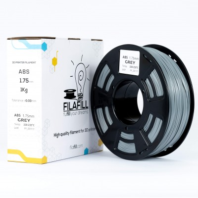 ABS Filament - PREMIUM - Grey - 1Kg - 1.75mm