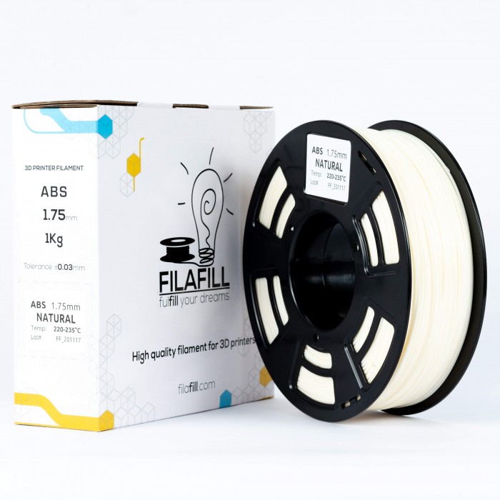 Filament ABS - PREMIUM - Natural - 1Kg - 1.75mm