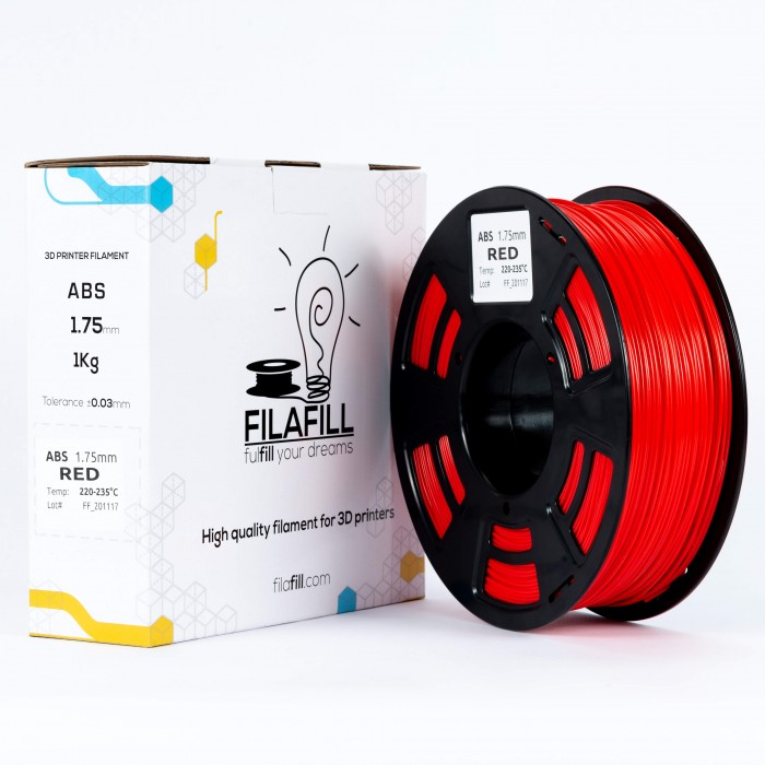 ABS Filament - PREMIUM - Red - 1Kg - 1.75mm