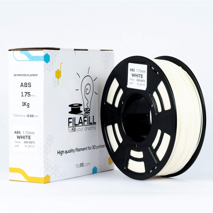 ABS Filament - PREMIUM - White - 1Kg - 1.75mm