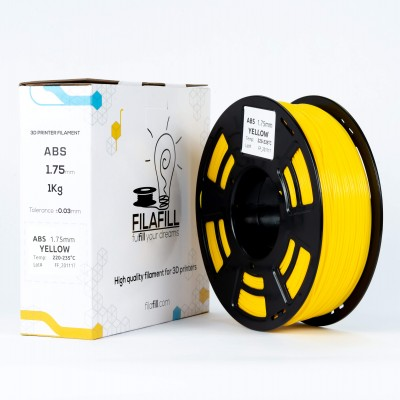ABS Filament - PREMIUM - Yellow - 1Kg - 1.75mm