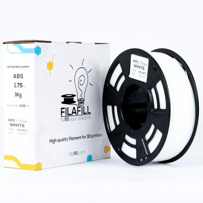 Filament HIPS - PREMIUM - Alb - 1Kg - 1.75mm