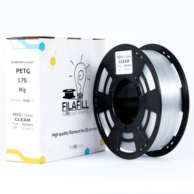 PETG filament - PREMIUM - Transparent - 1Kg - 1.75mm