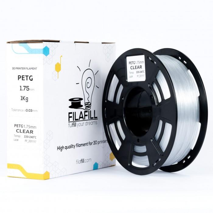 PETG filament - PREMIUM - Transparent - 1Kg - 1.75mm