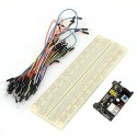 KIT Breadboard830 + 65xjumper wires + power supply 3.3/5V