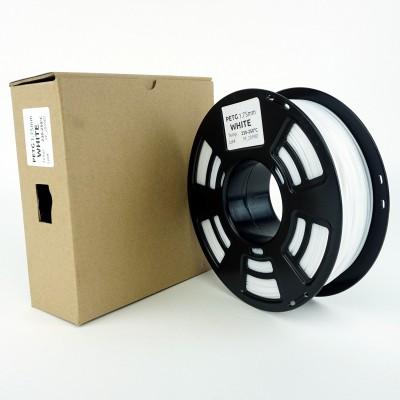 PETG filament - PREMIUM - White - 1Kg - 1.75mm