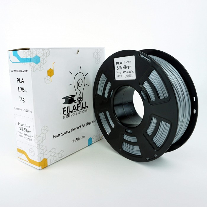 Filament PLA - PREMIUM - Argintiu metalic - 1Kg - 1.75mm