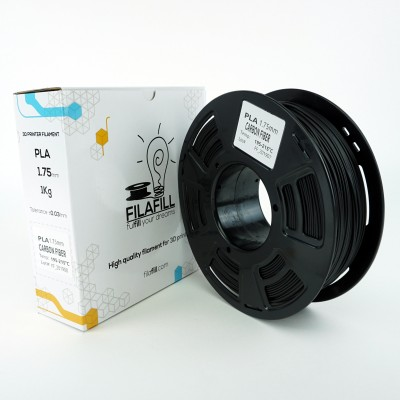 Filament PLA - PREMIUM - Carbon fill - 1Kg - 1.75mm