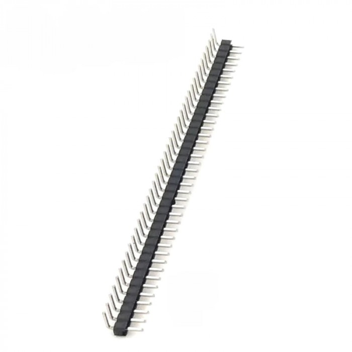 Male 40 x Pin header 90 degrees angle 2mm