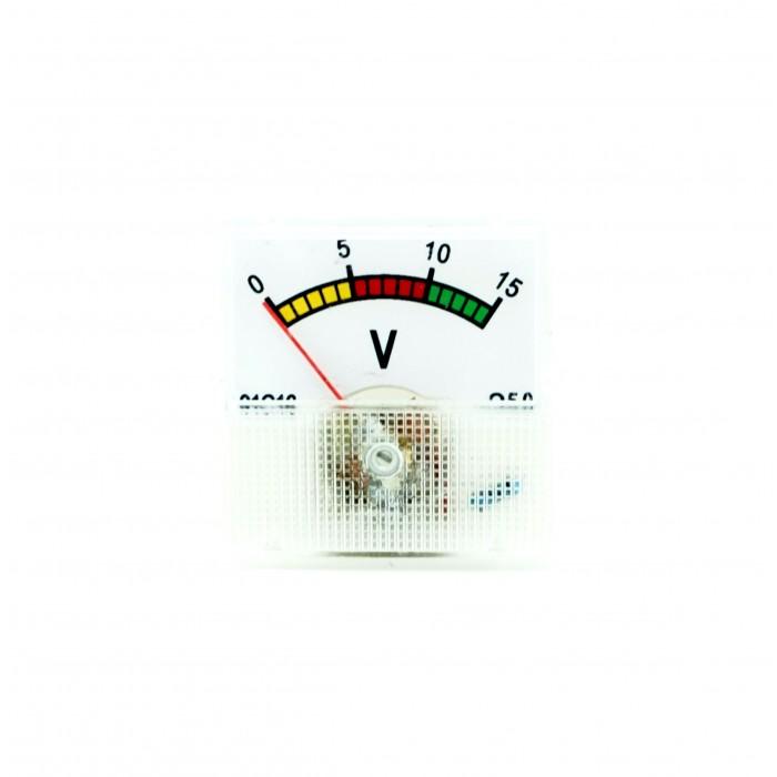 Analogic voltmeter 0-15V