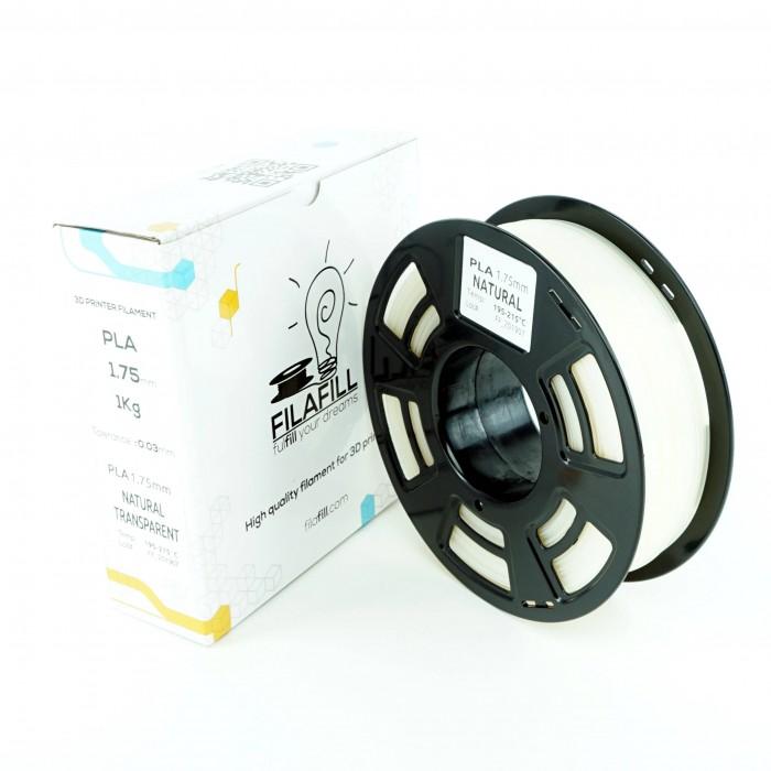 Filament PLA - PREMIUM - Natural Transparent - 1Kg - 1.75mm