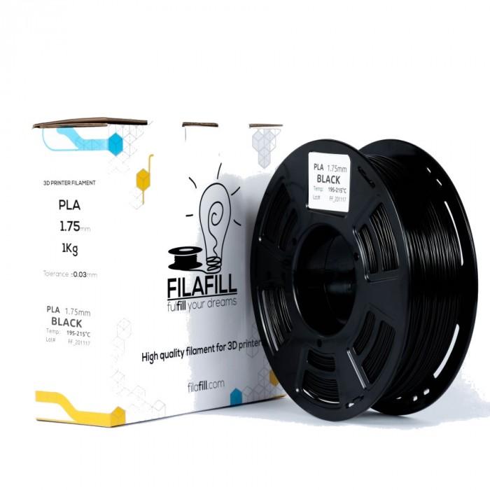 PLA Filament - PREMIUM - Black - 1Kg - 1.75mm