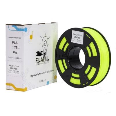 PLA Filament - PREMIUM - Glow Green - 1Kg - 1.75mm