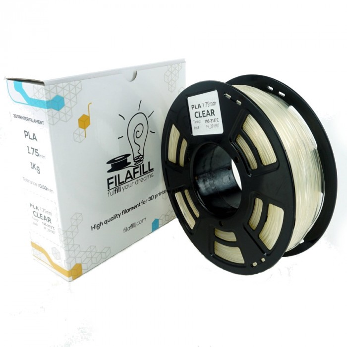 Filament PLA - PREMIUM - Transparent - 1Kg - 1.75mm
