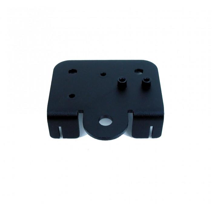 Extruder back support plate