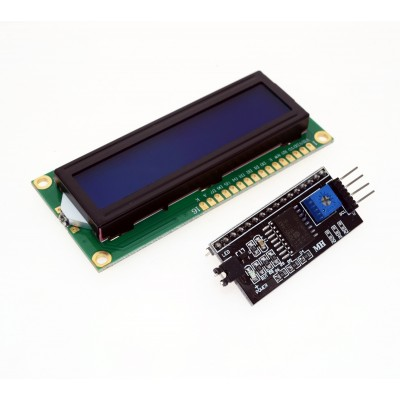 LCD Display 1602 albastru + adaptor i2c