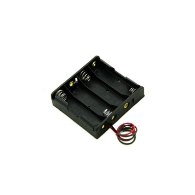 4xAA battery holder case