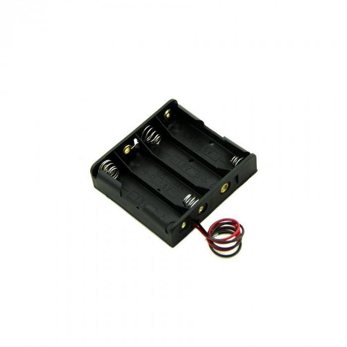 4xAA battery holder case