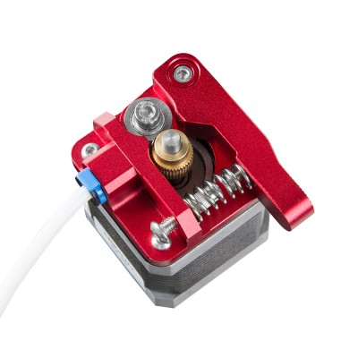 Red Metal Extruder