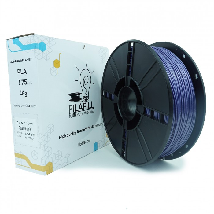Filament PLA - PREMIUM - Galaxy Vertigo Purpuriu - 1Kg - 1.75mm