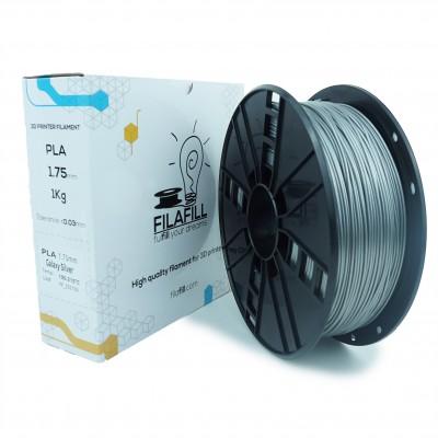 Filament PLA - PREMIUM - Galaxy Vertigo Argintiu - 1Kg - 1.75mm