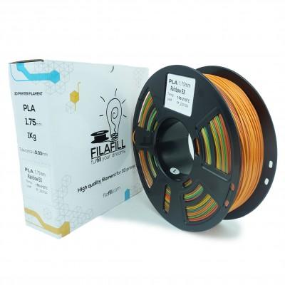 Filament PLA - PREMIUM - Rainbow ex - 1Kg - 1.75mm