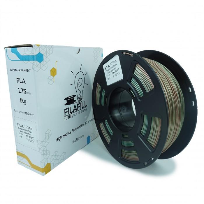 Filament PLA - PREMIUM - Mirror Chrome Chameleon Wizard Voodoo - 1Kg - 1.75mm